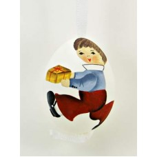 Peter Priess of Salzburg Hand Painted Easter Egg Little Boy