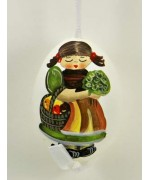 TEMPORARILY OUT OF STOCK - Peter Priess of Salzburg Hand Painted Easter Egg Little Girl with Basket