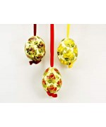 TEMPORARILY OUT OF STOCK - Peter Priess of Salzburg Hand Painted Easter Egg Set of Three Flowers