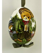 TEMPORARILY OUT OF STOCK - Peter Priess of Salzburg Hand Painted Easter Egg Father Bear