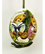 TEMPORARILY OUT OF STOCK - Peter Priess of Salzburg Hand Painted Easter Egg Two Bears