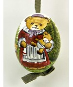Peter Priess of Salzburg Hand Painted Easter Egg Mother Bear - TEMPORARILY OUT OF STOCK