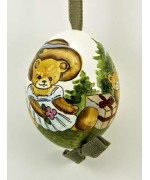 TEMPORARILY OUT OF STOCK - Peter Priess of Salzburg Hand Painted Easter Egg Little Girl Bear