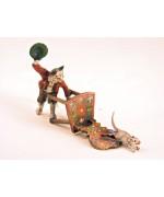 Vienna Bronze Cat Chair Mouse Miniature Figure