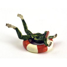 TEMPORARILY OUT OF STOCK <BR><BR>  Vienna Bronze 'Frog with Life-belt'