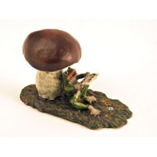 TEMPORARILY OUT OF STOCK <BR><BR>  Vienna Bronze 'Frog under Mushroom'