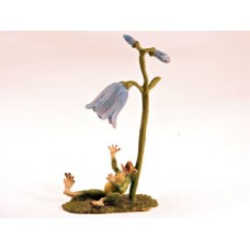 TEMPORARILY OUT OF STOCK <BR><BR>  Vienna Bronze 'Frog under Bellflower'
