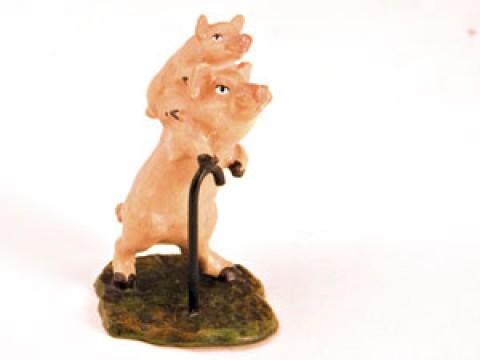 Vienna Bronze Pig on Pig Miniature Figure