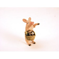 Vienna Bronze 'Pig Shopping-basket'  Miniature Figure