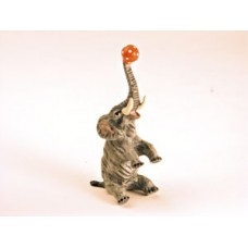 TEMPORARILY OUT OF STOCK <BR><BR>  Vienna Bronze 'Elephant sitting with Ball'