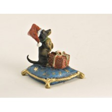 TEMPORARILY OUT OF STOCK -  Vienna Bronze Dachshund on Pillow  Miniature Figure
