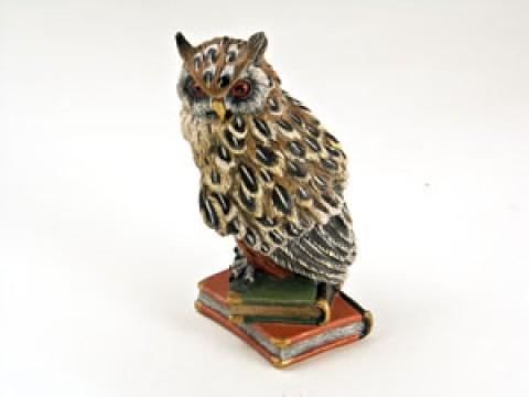Vienna Bronze Big Owl on 2 Books