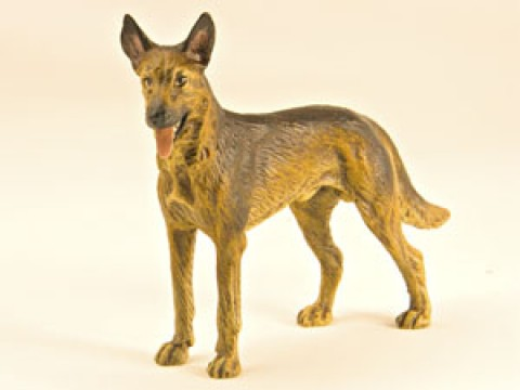 TEMPORARILY OUT OF STOCK <BR><BR>  Vienna Bronze 'German Shepherd'