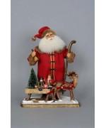Karen Didion  Signature Collection  Limited Edition  Vintage Santa wih Sled
