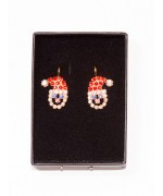 Santa Claus Swarovski Earrings - TEMPORARILY OUT OF STOCK
