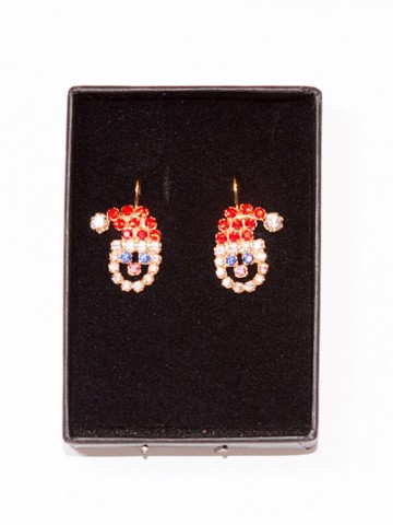 Santa Claus Swarovski Earrings - TEMPORARILY OUT OF STOCK