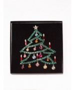 Large Swarovski Christmas Tree Pin