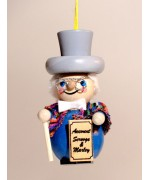 TEMPORARILY OUT OF STOCK - Scrooge Wooden Ornament Christian Steinbach