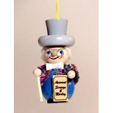 Scrooge Wooden Ornament Christian Steinbach