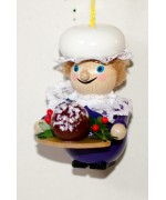 TEMPORARILY OUT OF STOCK - Mrs. Cratchit Dickens Christmas Carol Wooden Ornament Christian Steinbach
