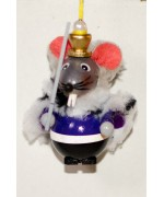 TEMPORARILY OUT OF STOCK - Mouse King Wooden Ornament Christian Steinbach