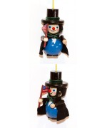TEMPORARILY OUT OF STOCK - President Lincoln Wooden Ornament Christian Steinbach