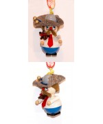 TEMPORARILY OUT OF STOCK - President Roosevelt Wooden Ornamnet Christian Steinbach