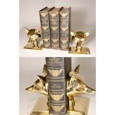 Brass Fox Bookends Set of 2 - FD