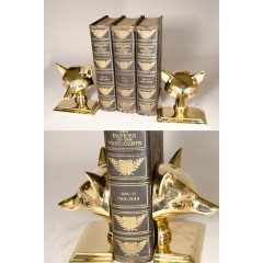 Brass Fox Bookends Set of 2 - FD