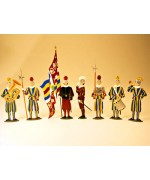 Swiss Guard Set' Standing Pewter Wilhelm Schweizer