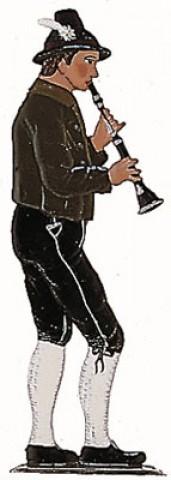 Bavarian Clarinet Musician' Standing Pewter Wilhelm Schweizer