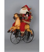 TEMPORARILY OUT OF STOCK Karen Didion Santa Claus on Vintage Horse Trike