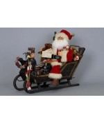 TEMPORARILY OUT OF STOCK Karen Didion  Lighted Vintage Sleigh Santa Claus
