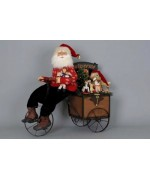 TEMPORARILY OUT OF STOCK Karen Didion  Lighted Delivery Trike Santa Claus