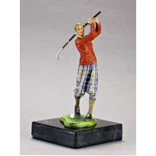 TEMPORARILY OUT OF STOCK <BR><BR>  Vienna Bronze 'Male Golfer'