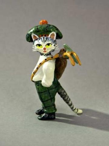 Vienna Bronze Kitty Golfer - Irish