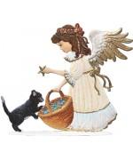 Angel with Kitten Anno 2012 Christmas Pewter Wilhelm Schweizer