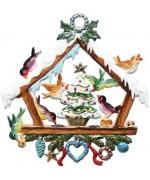 Vogelhauschen Christmas Pewter Wilhelm Schweizer - TEMPORARILY OUT OF STOCK