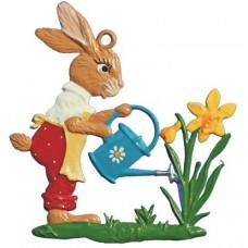 Wilhelm Schweizer Easter Pewter Hase mit Giesskanne