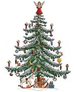 TEMPORARILY OUT OF STOCK - Wilhelm Schweizer Weihnachtsbaum Christmas Tree