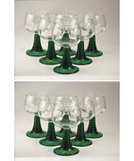 German - Wein Roemer 12 Pack of Wine Glasses Roemers, 0.2 of Liter bowl