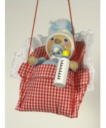 TEMPORARILY OUT OF STOCK - Baby Boy Wooden Ornament Christian Steinbach