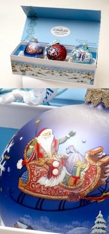 Santa Claus' Glass Ornaments G. DeBrekht