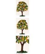 Fall Chestnut Tree Standing Pewter Wilhelm Schweizer