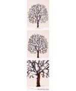 Winter Chestnut Tree Standing Pewter Wilhelm Schweizer