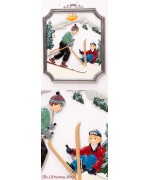 Skiing Window Wall Hanging Wilhelm Schweizer
