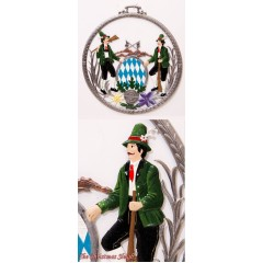 Bavarian Men  Window Wall Hanging  Wilhelm Schweizer