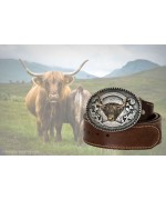 TEMPORARILY OUT OF STOCK - Scottish Highland  'Leather Belt'