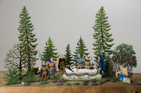 TEMPORARILY OUT OF STOCK - Wilhelm Schweizer Fairytale Pewter Snow White and the Seven Dwarves Set
