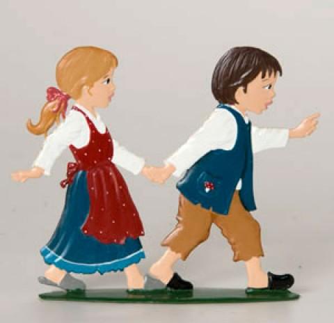 Wilhelm Schweizer Fairytale Pewter Hansel & Gretel Pair